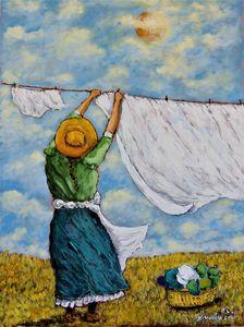 The Clothes Line - Frank L. Morrison