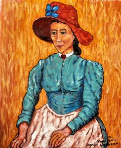 Peasant Girl motif after VanGogh