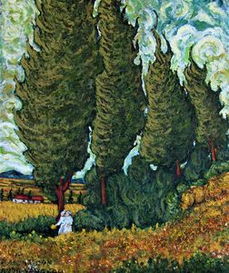 Cypresses  after Vincent VanGogh