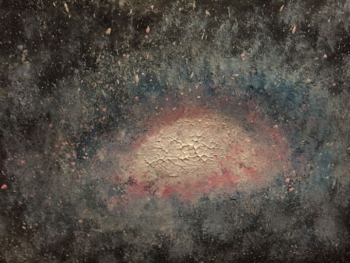 Galaxy painting - Coral
