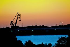 Crane Sunset - J. R. Zapala