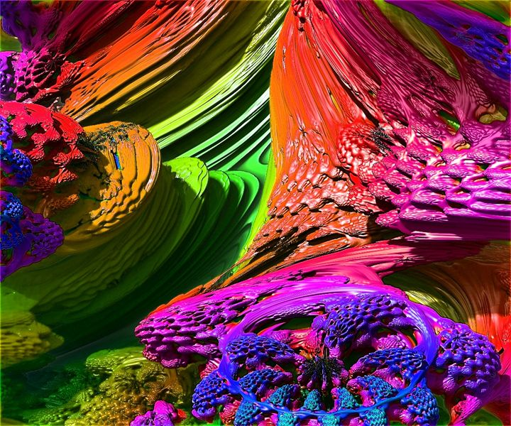 Colors in space - ORIGINALARTbyANDREA