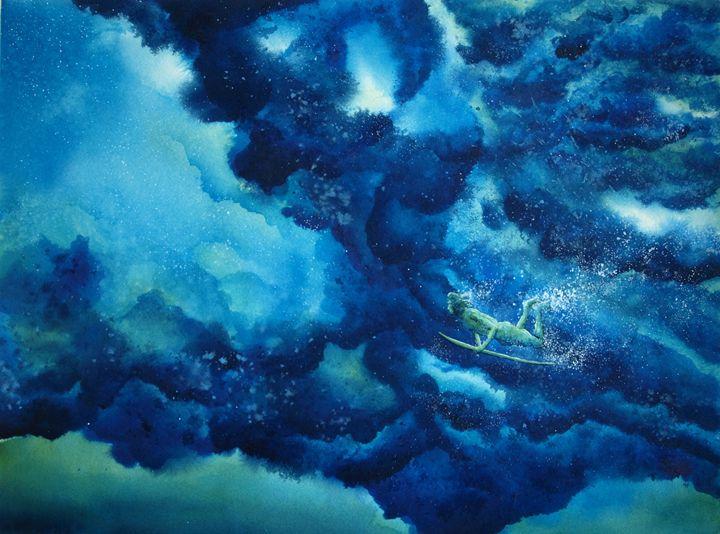 Duck Diver Green - Nelson Makes Art!