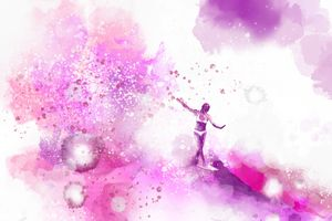 Dances on Water - Pink - Nelson Makes Art!