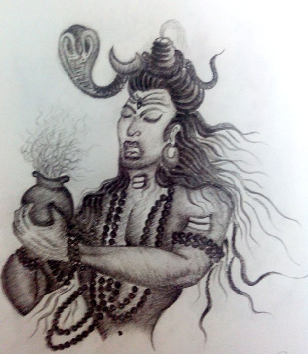 lord shiva - rudra - Drawings & Illustration, Religion