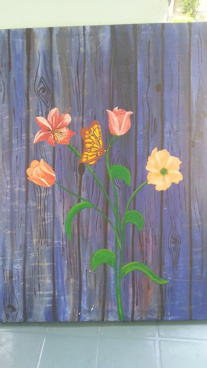 Floral original  painting - Rabia art