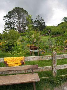 Garden bench, Hobbiton