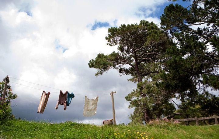 Clothes hung out to dry - Hobbiton, Matamata, New Zealand