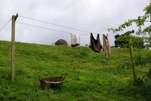 Washing clothes in the Shire