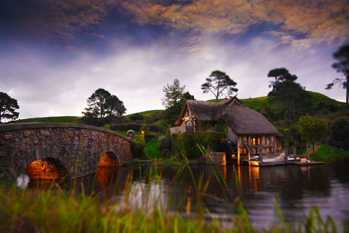 Tiltshift at dusk - Hobbiton, Matamata, New Zealand