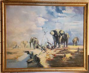 """Elephants"" painting by Gunnar Erman"