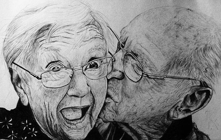 Old Couple Rodrick Forsi Drawings Illustration People