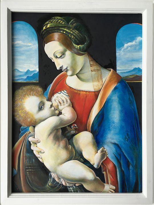 Madonna and Child (Leonardo DaVinci) - Oil on Canvas