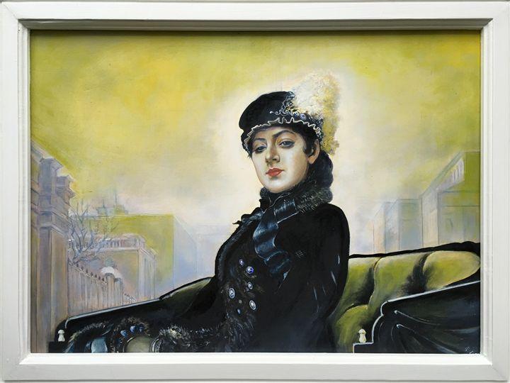 Stranger (Neznakomka, Незнакомка) - Oil on Canvas