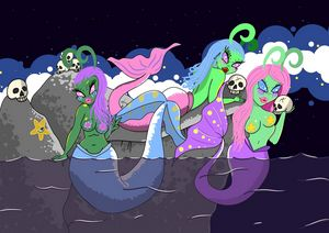 Alien mermaids