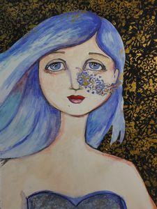 watercolor, mixed media