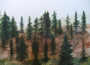 """""""Forest"""" 18""""x24"""" watercolor"""
