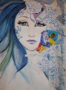 """watercolor, mixed media """"Blue"""""""