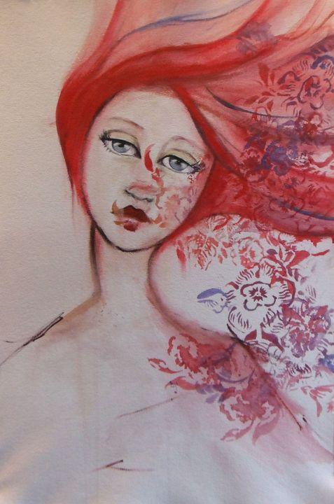 """watercolor portrait """"Red"""" - Jennifer Lynn"""