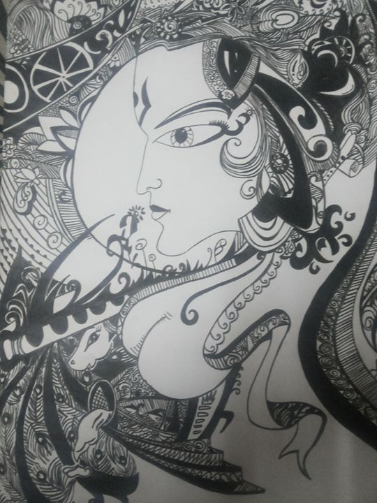 Charcoal Sketch - God's Own Creation by Shefali Magan