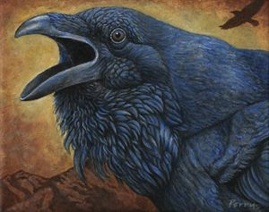 Raven Call - Nathan Perry Fine Art