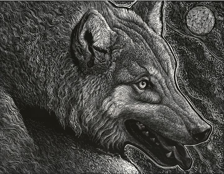 Evening Wolf - Nathan Perry Fine Art