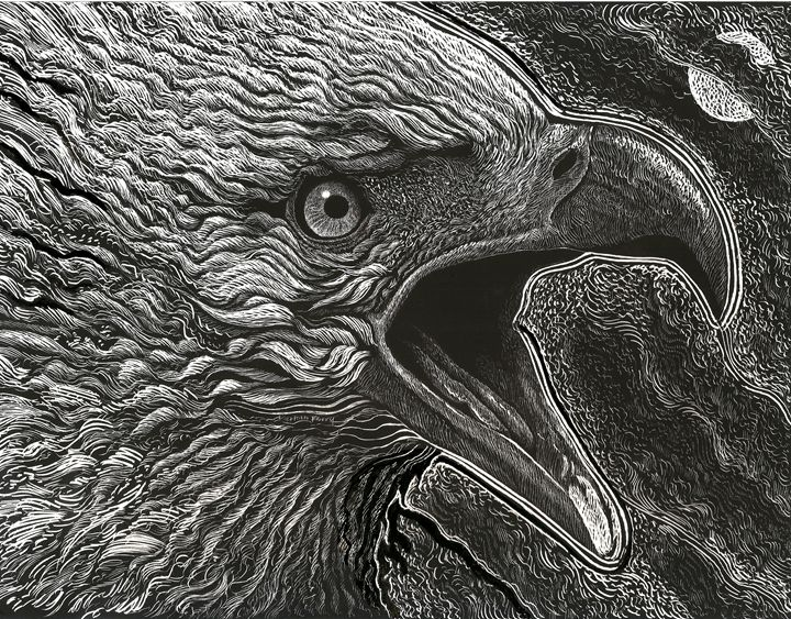 Calling Eagle - Nathan Perry Fine Art
