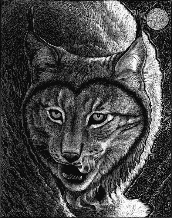 Love Lynx Us - Nathan Perry Fine Art
