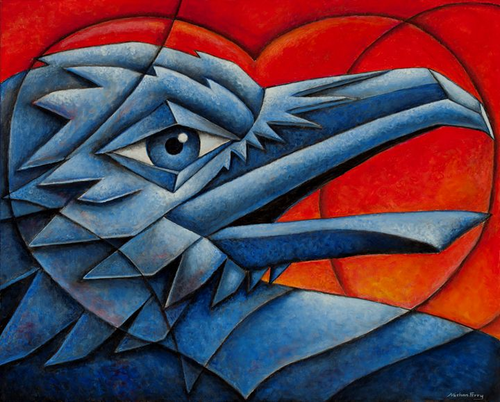 Cubist Love Bird Nathan Perry Fine Art Paintings
