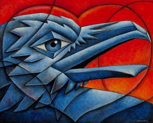 Cubist Love Bird - Nathan Perry Fine Art