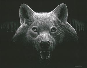 Night Wolf - Nathan Perry Fine Art