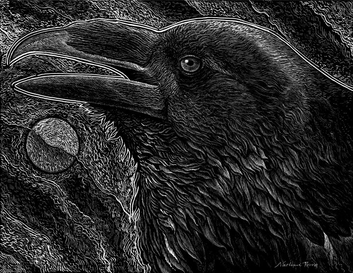 Raven and Moon - Nathan Perry Fine Art