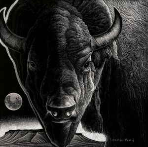 Big Sky Buffalo - Nathan Perry Fine Art