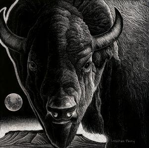 Big Sky Buffalo - Nathan Perry Fine Art