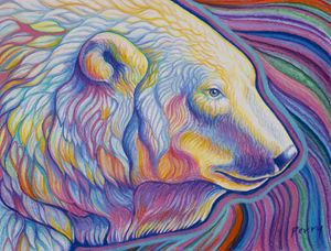 Chromatic Polar Bear - Nathan Perry Fine Art
