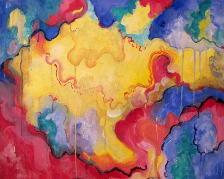 Primary Color Abstract - Nathan Perry Fine Art