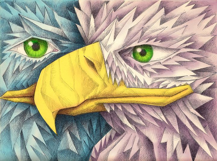 Eagle in Cubism - Nathan Perry Fine Art