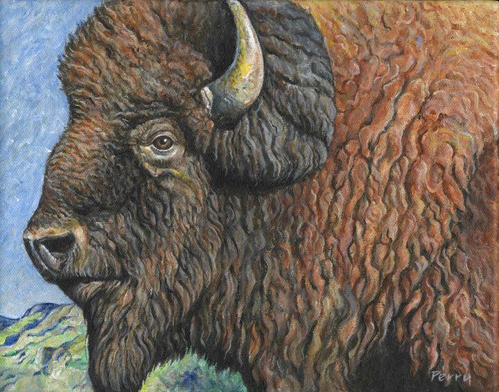 American Buffalo II - Nathan Perry Fine Art