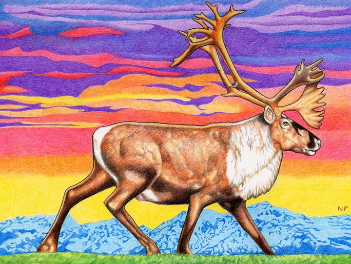 Caribou Sunset - Nathan Perry Fine Art
