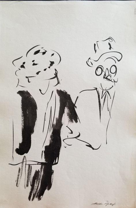 Edwardian Couple - Sparky & Jo's Meanderings