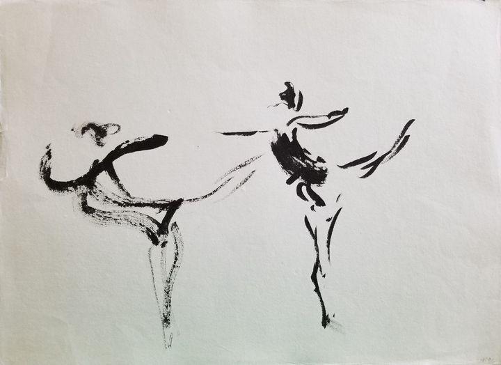 Two Ballerinas - Sparky & Jo's Meanderings