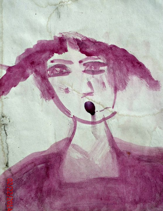 Pink Pigtails - KaraMariaMillerWaterColours