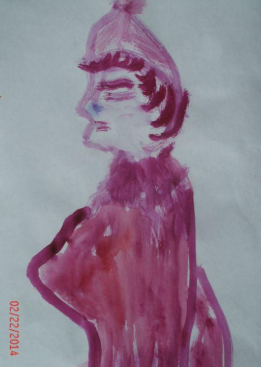 Pink Marm - KaraMariaMillerWaterColours