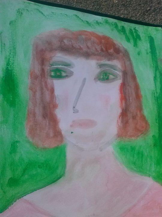 GreenEyedLady - KaraMariaMillerWaterColours