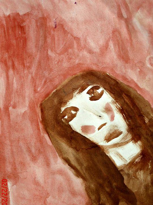 brown and pink eyes - KaraMariaMillerWaterColours