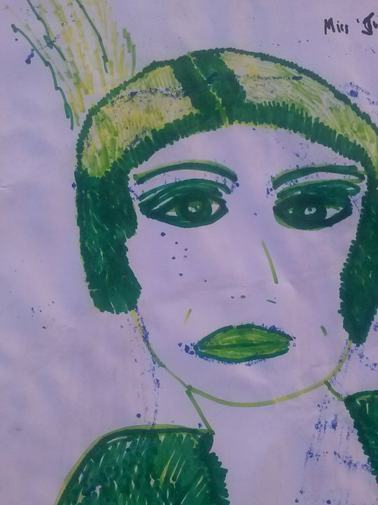 Old Woman - KaraMariaMillerWaterColours