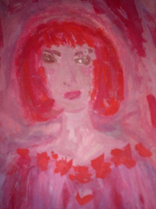 Pink Red Mine - KaraMariaMillerWaterColours