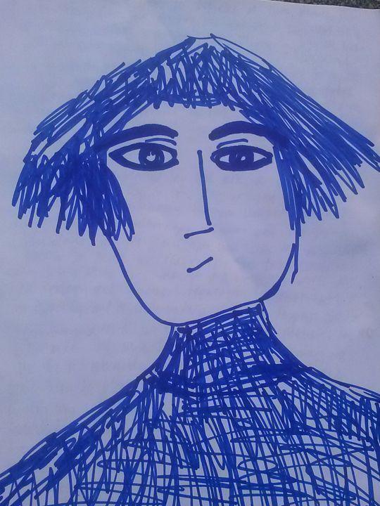 Blue Ally - KaraMariaMillerWaterColours