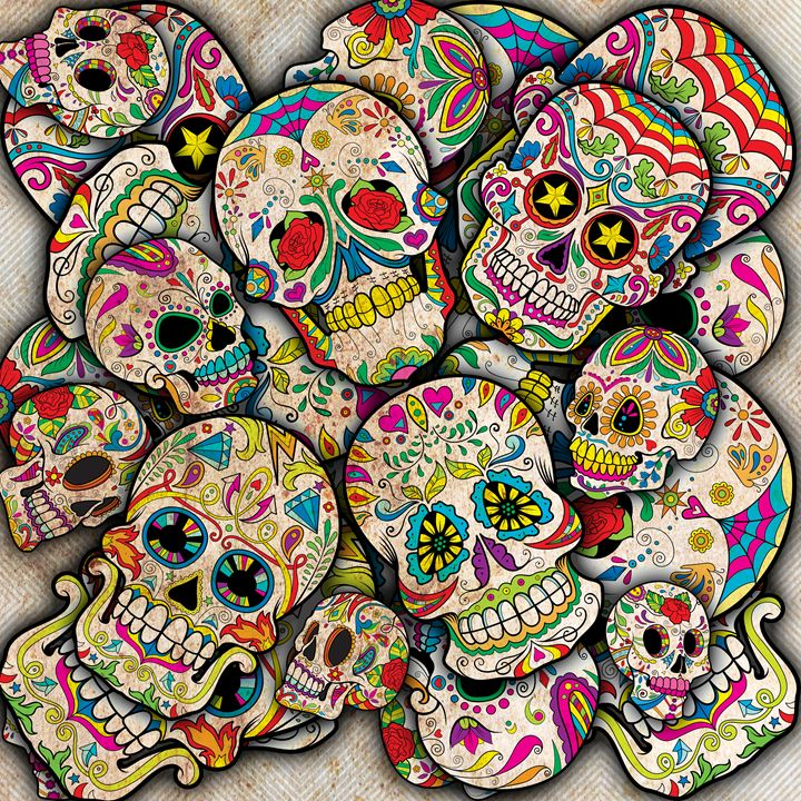 Sugar Skull Collage - Good Stuff