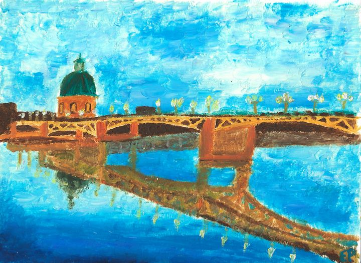 Printed paint - Daurade, Toulouse - Elodie - landscapes